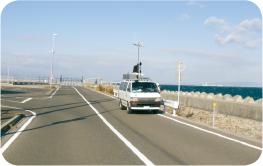 協会所有の測定車を用いたフィールド調査イメージ